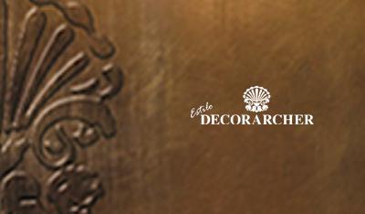 Presentación Catálogo dorado Decorarcher – Arte en el mueble